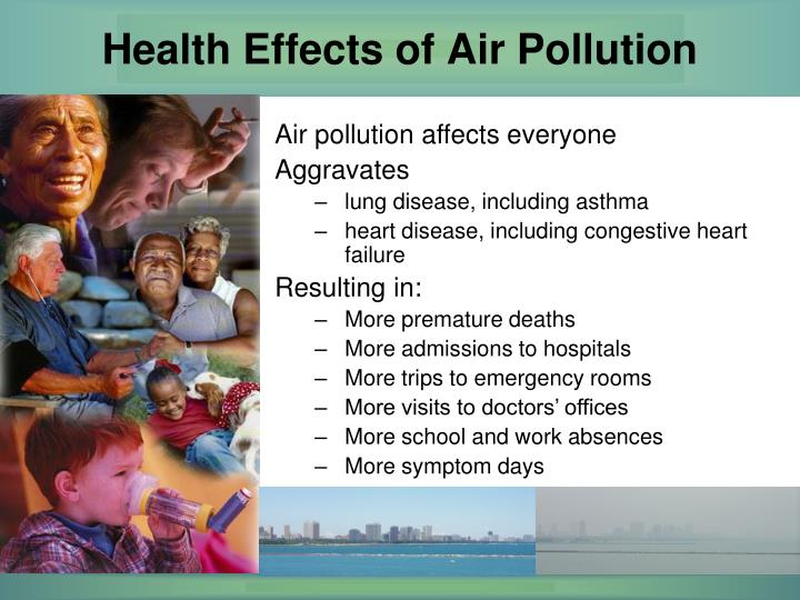 human effects on pollution