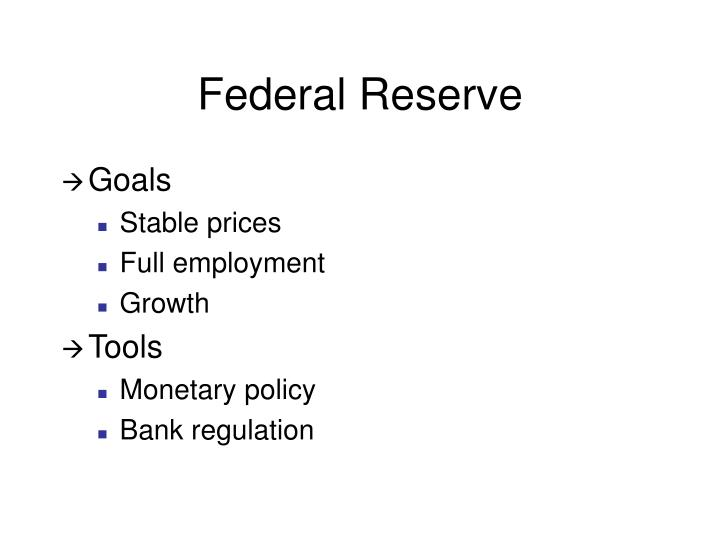Federal reserve1