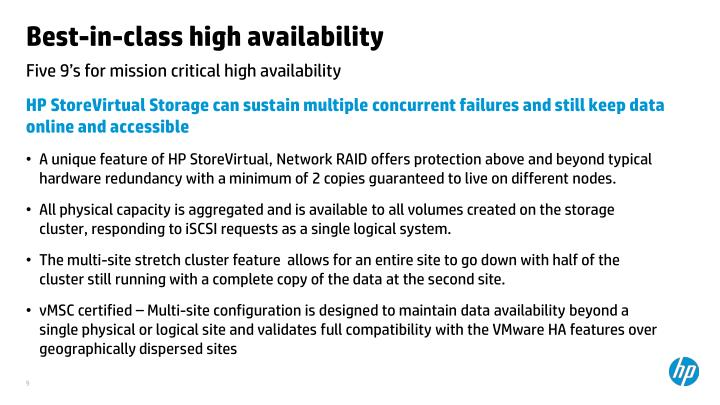 Best-in-class high availability