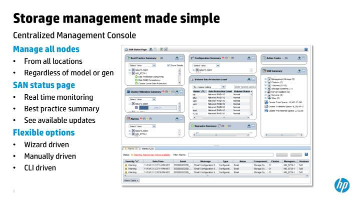 Storage management made simple