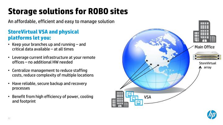 Storage solutions for ROBO sites