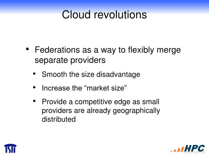 Cloud revolutions