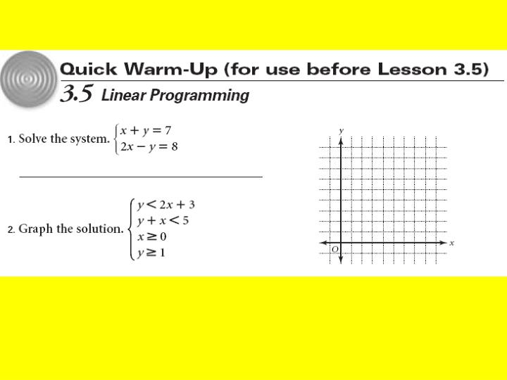 Problem Solving Using Linear Equations
