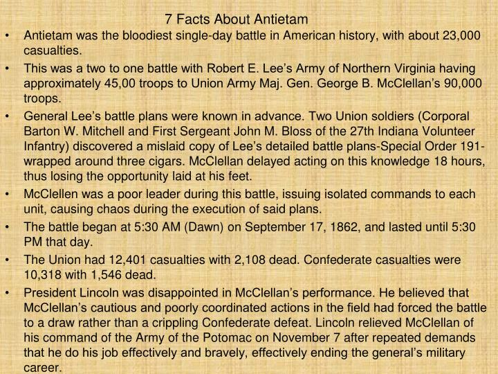 7 Facts About Antietam