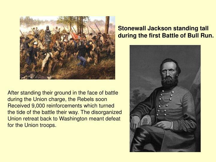 Stonewall Jackson standing tall