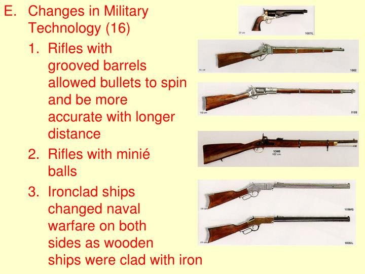 Changes in Military Technology (16)