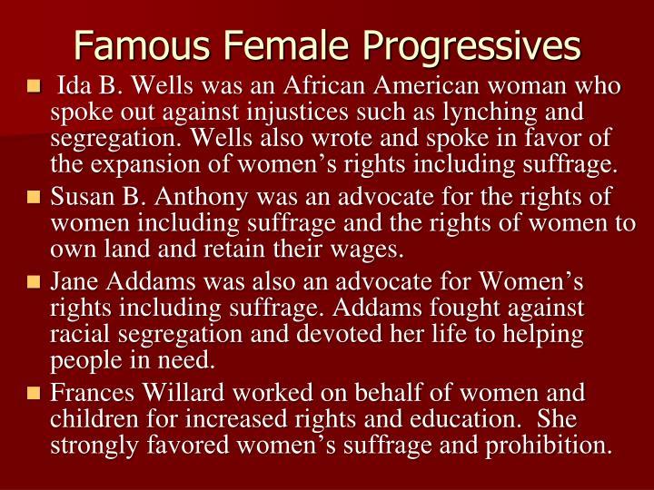 Famous Female Progressives