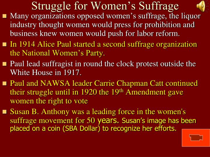 Struggle for Women's Suffrage