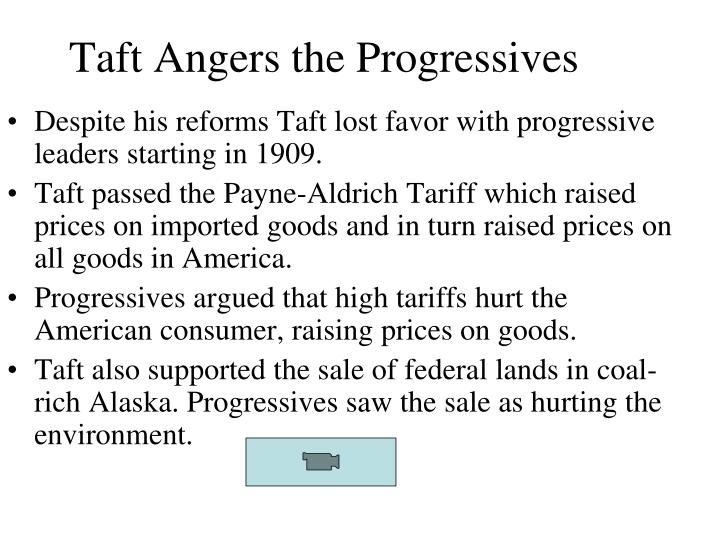 Taft Angers the Progressives