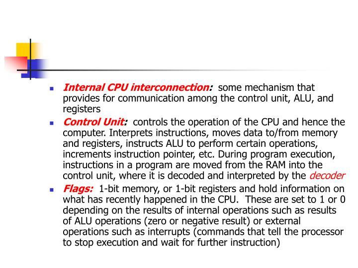 Internal CPU interconnection
