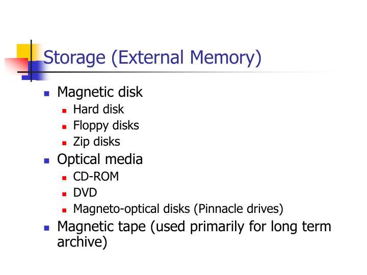 Storage (External Memory)