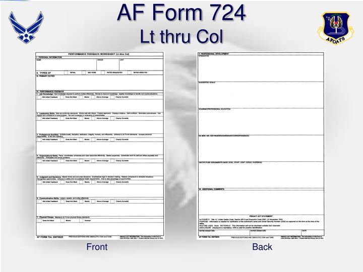 AF Form 724