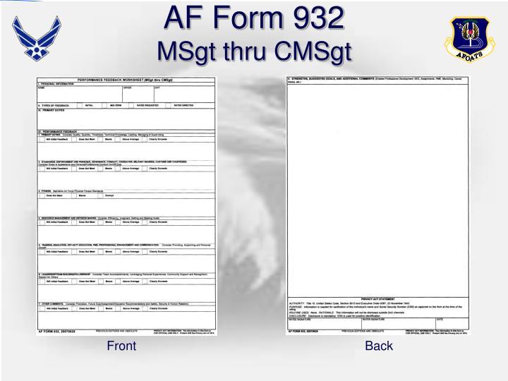 AF Form 932