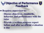 objective of performance feedback1
