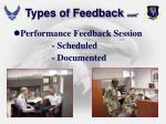 types of feedback cont