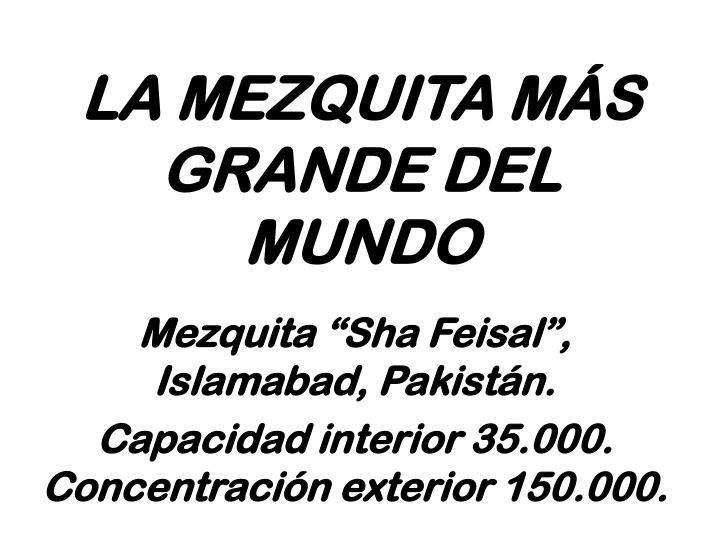 LA MEZQUITA MÁS GRANDE DEL MUNDO