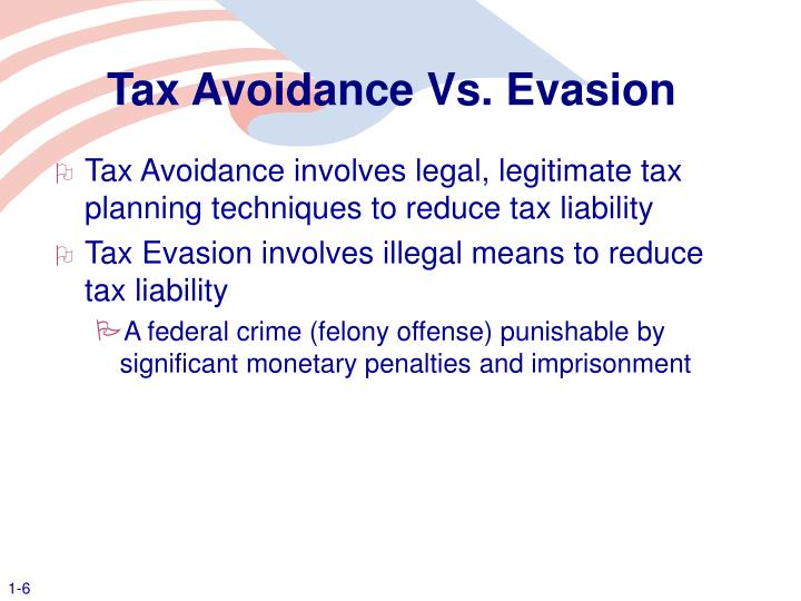 Tax Avoidance Vs. Evasion