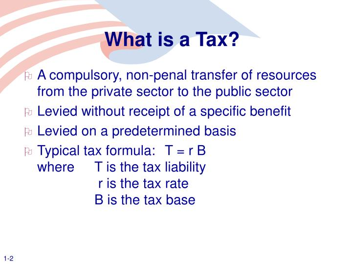 What is a tax