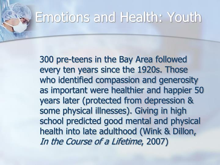 Emotions and Health: Youth