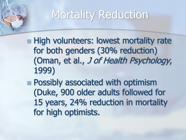 Mortality Reduction