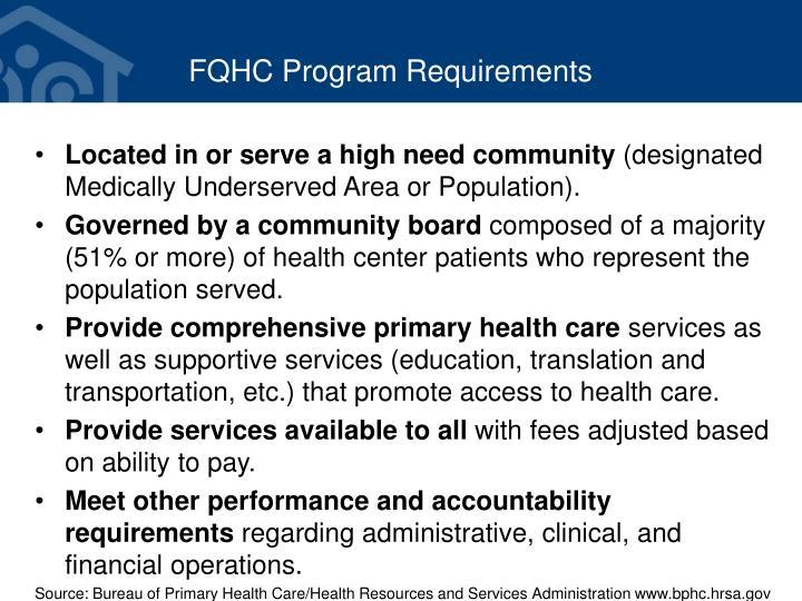 FQHC Program Requirements