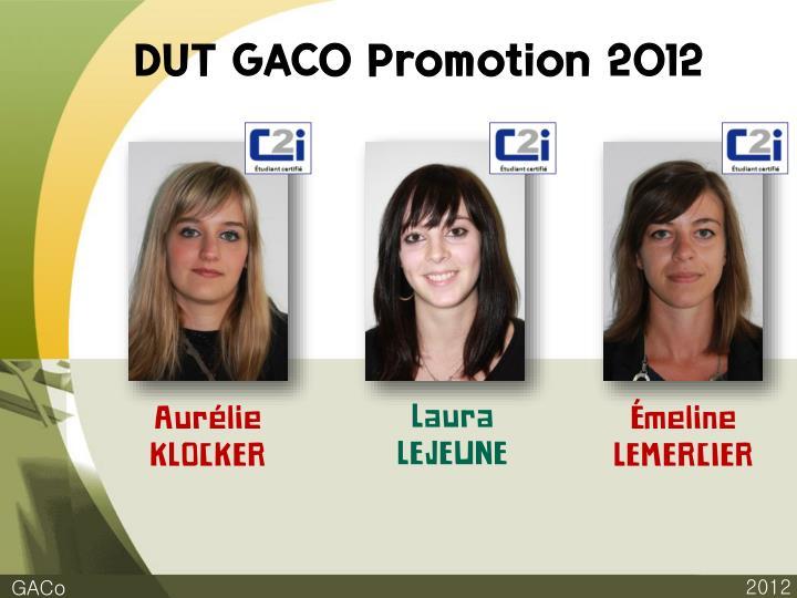 DUT GACO Promotion 2012