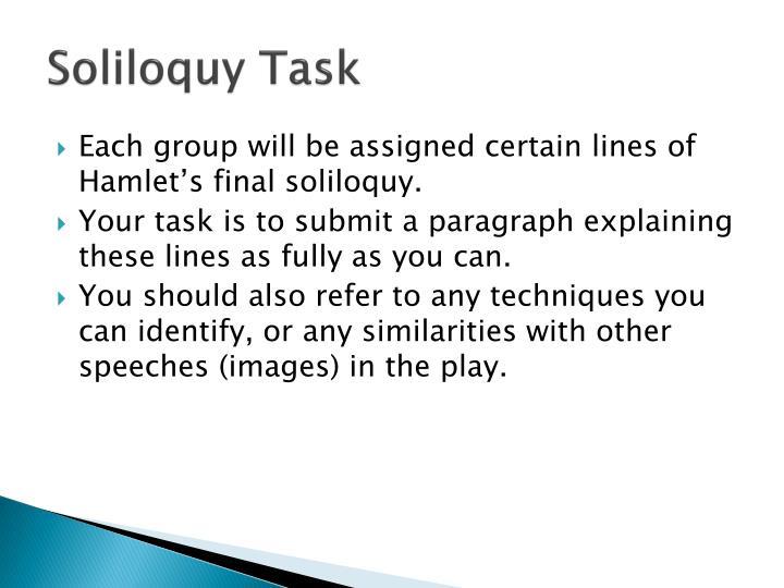 Soliloquy Task