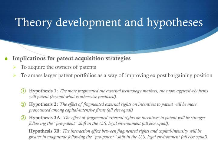 Theory development and hypotheses
