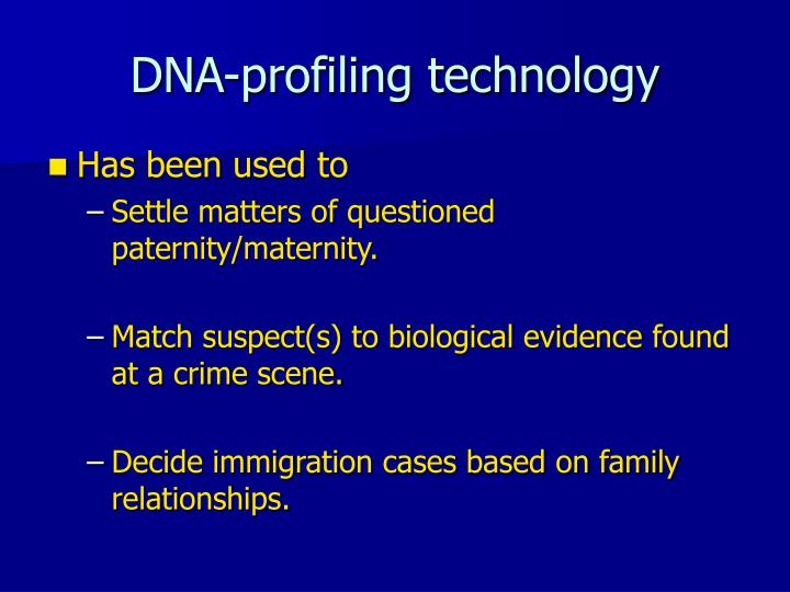 DNA-profiling technology