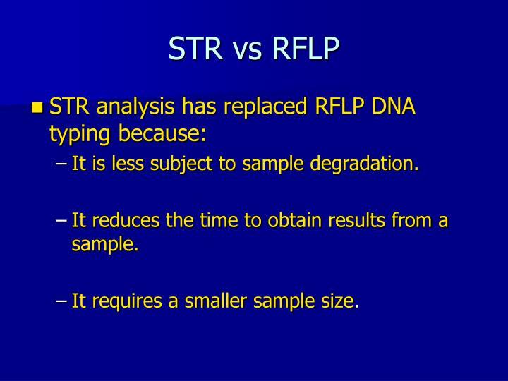 STR vs RFLP