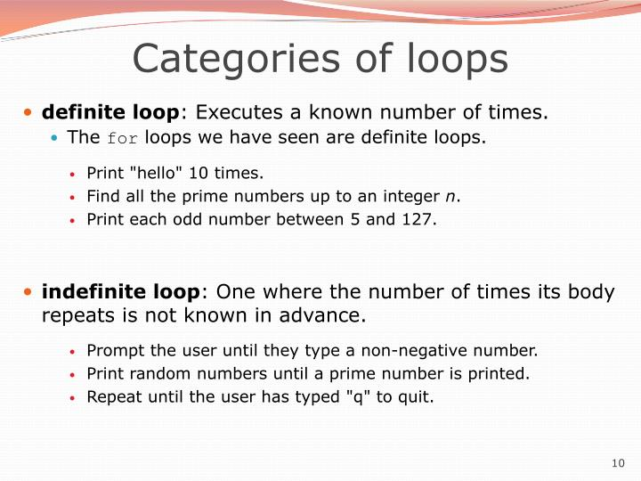 Categories of loops