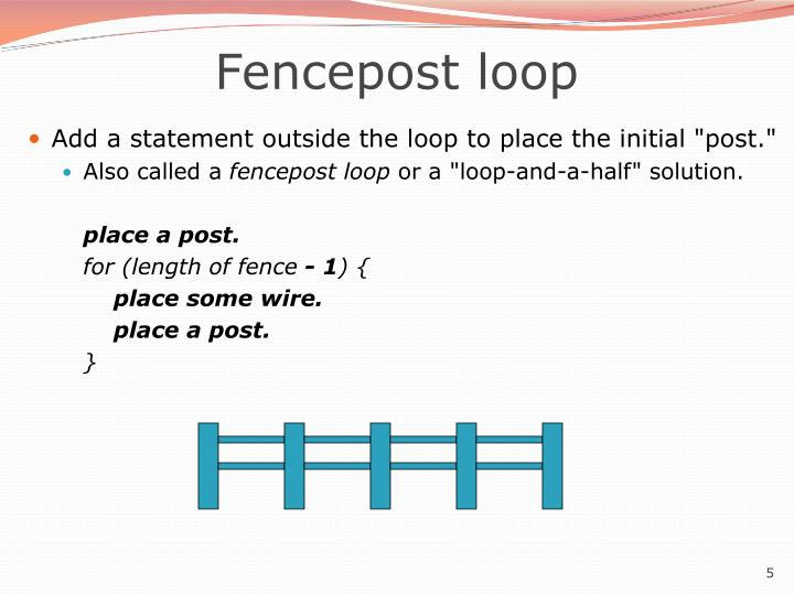 Fencepost loop