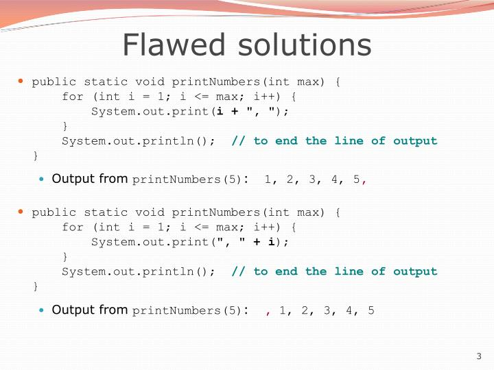 Flawed solutions