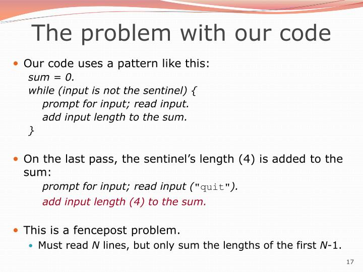 The problem with our code