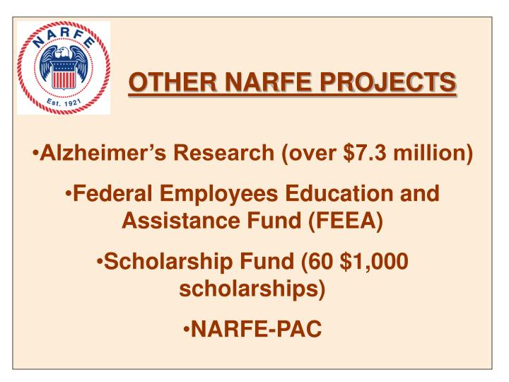 OTHER NARFE PROJECTS