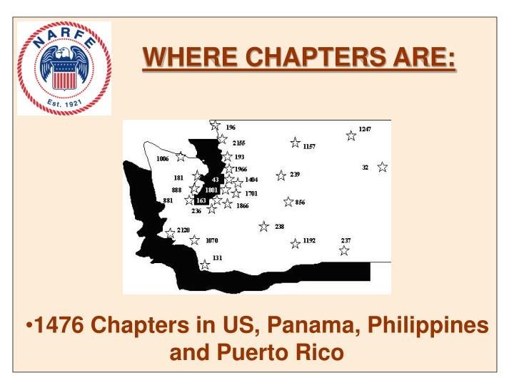 WHERE CHAPTERS ARE: