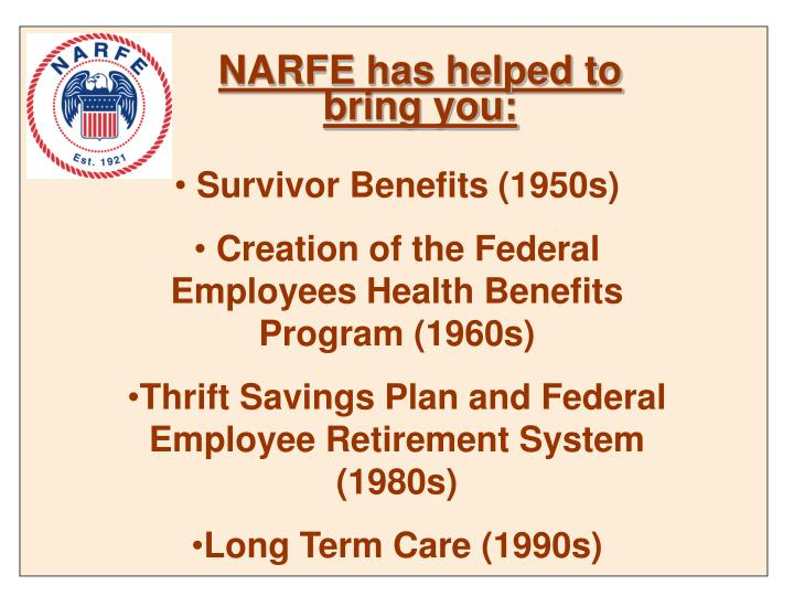 NARFE has helped to bring you: