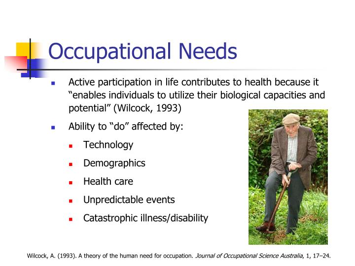 Occupational Needs