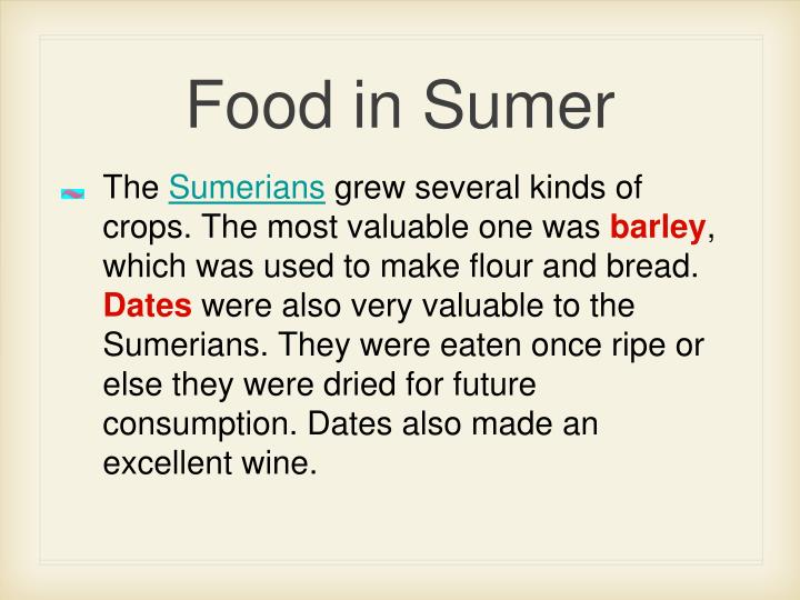 Food in Sumer