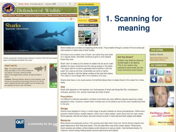 1. Scanning for meaning