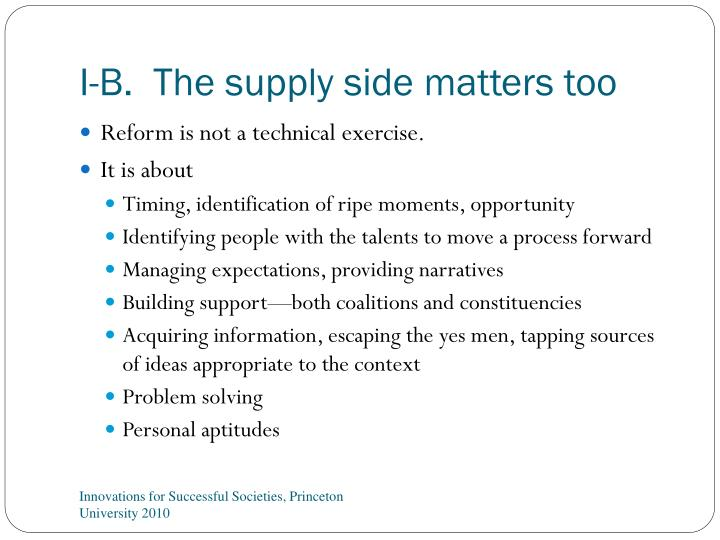 I-B.  The supply side matters too