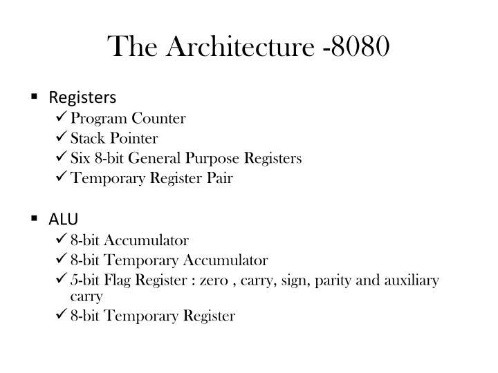 The Architecture -8080