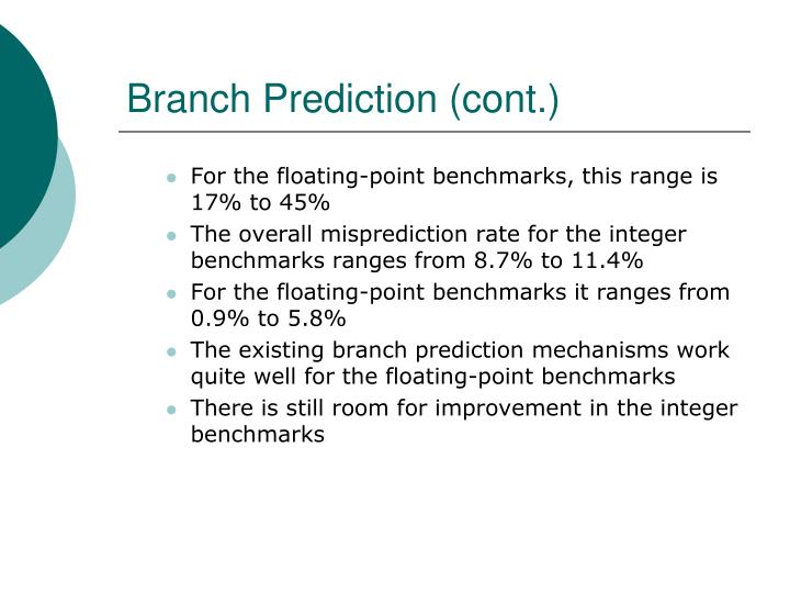 Branch Prediction (cont.)