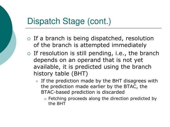 Dispatch Stage (cont.)