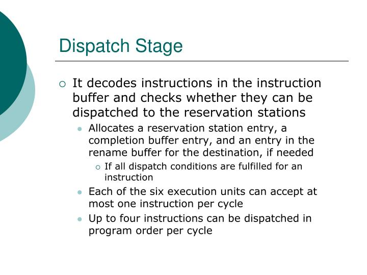 Dispatch Stage