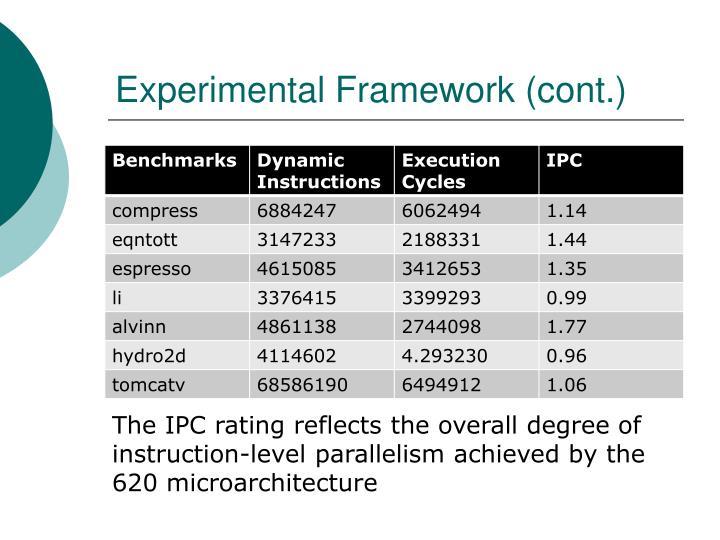 Experimental Framework (cont.)
