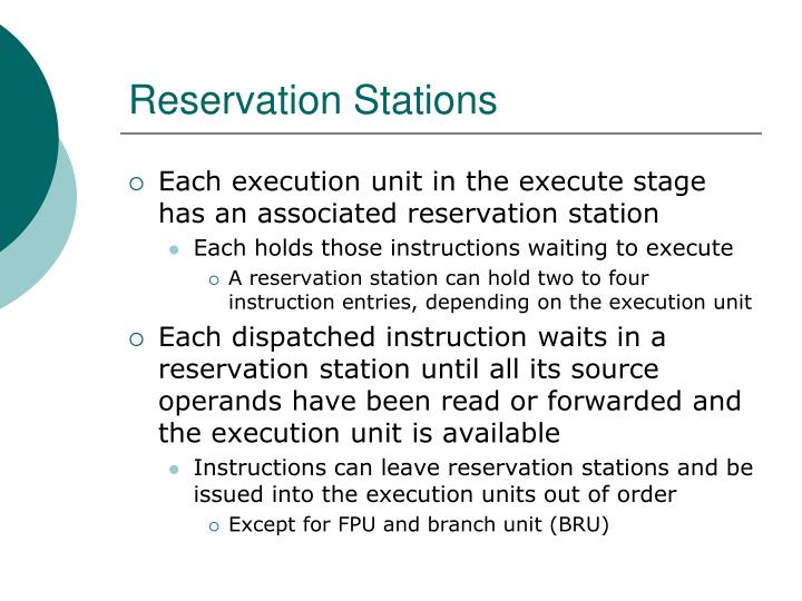 Reservation Stations