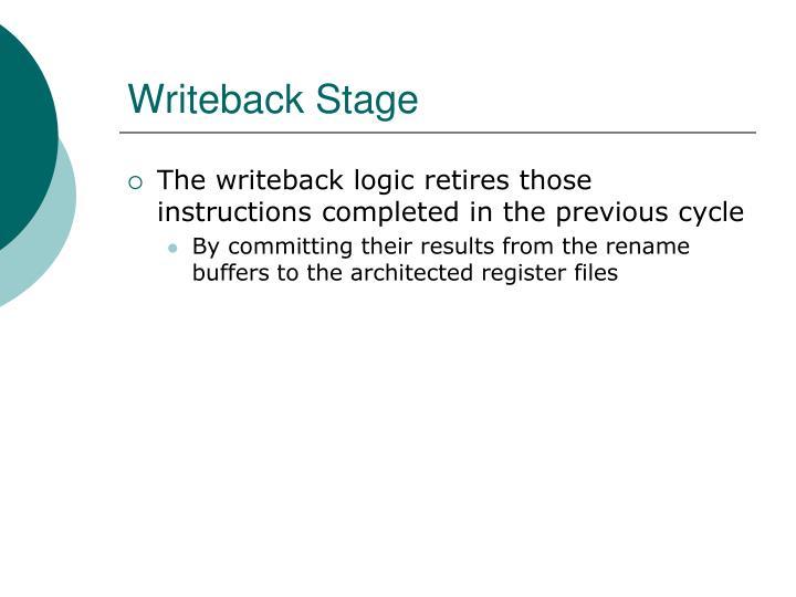 Writeback Stage