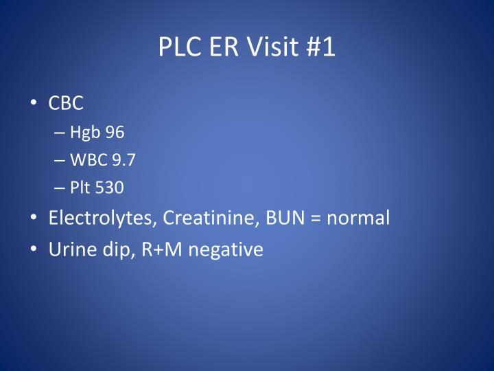 PLC ER Visit #1