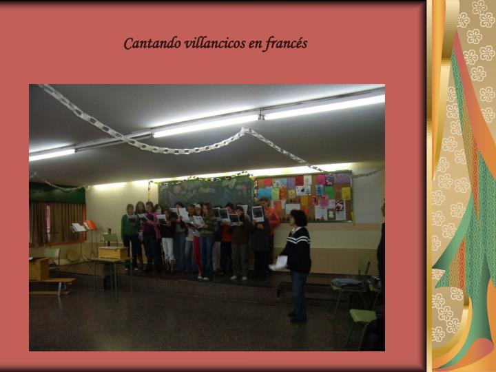 Cantando villancicos en francés